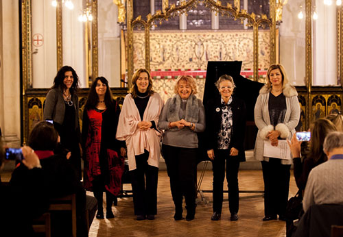 After the concert and launching of the company Around the Globe Music & Arts with fellow musicians Maya Jordan, Olga Dudnik, Vera Milankovic, Lola Perrin and actress Vesna Stanojevic; 1st February, 2018 at St Cypran's Church, London NW1