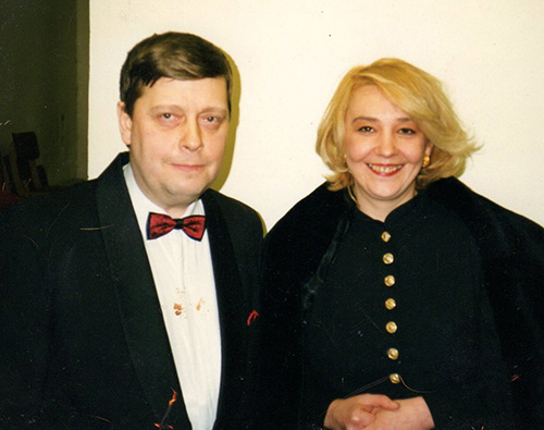 Marina with her favorite teacher, Prof. Igor Lazko