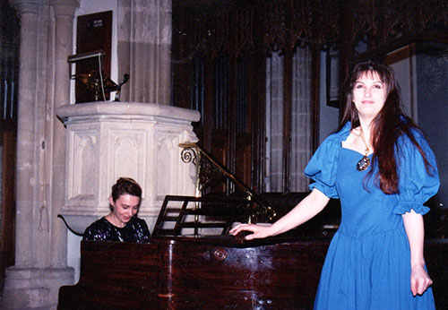 Accompanying singer Caroline Salmon Trutz in 1991